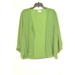 Click Tops - Click top SZ XL moss green rayon crinkle hi lo but
